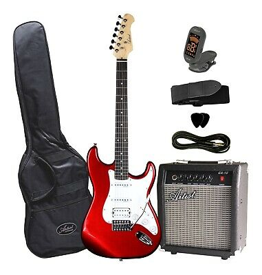 STHPK Electric Guitar with Amp and Accessories - Candy Apple Red