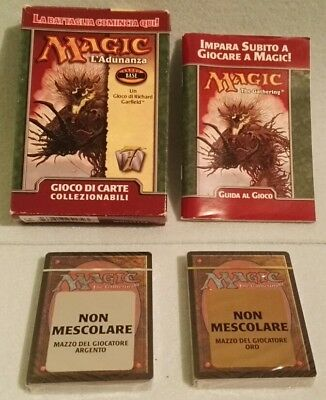 Magic The Gathering L'adunanza 2001 Wizards Gioco 2 Mazzi Carte Sigillati!