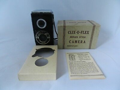 Vintage CLIX-O-FLEX Reflex Style Camera Original Box Manual Estate Find