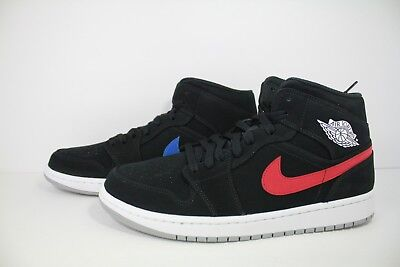 sale retailer 264ac 14f20 Nike Air Jordan 1 Mid Black University Red 554724-065
