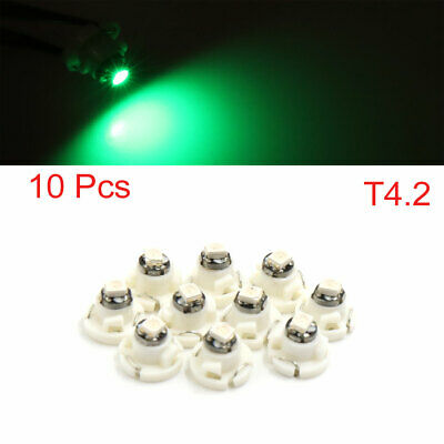 10pcs Green Light T4.2 1210 SMD 1-LED Auto Car Dashboard Side Lamp Interior Bulb