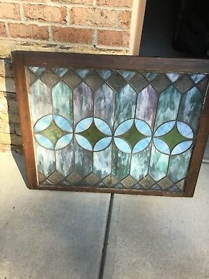 VINTAGE Antique STAINED GLASS WINDOWS FROM TN CHURCH 36 3/8 X29 3/8 X1 3/8