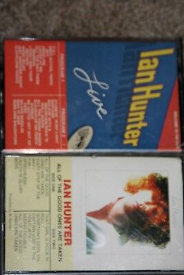 Very Rare Vintage Ian Hunter  Cassettes! Rare Canadian Releases! Mott The Hoople