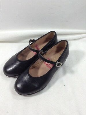 Girl's Bloch Black Leather Mary Jane Tap Shoes Size 11 M