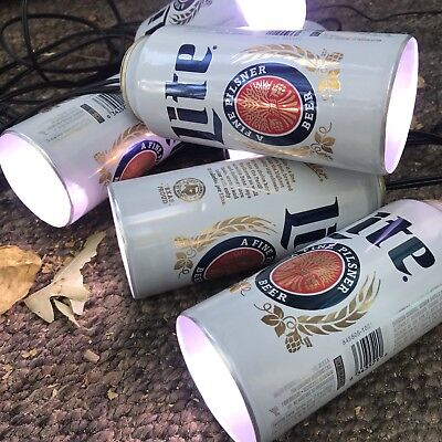 Miller Lite Tall Boys Beer Can Party Lights 20ft