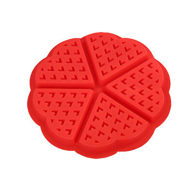 Silicone Waffle Mould Mold Maker Baking Cookie Pan Cake Bakeware Waffle Tray