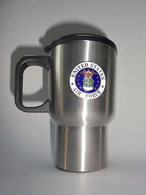 Stainless Steel insulated Travel Mug US Air Force Veteran 14 ounce