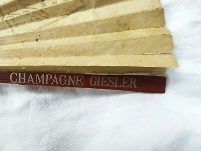 Antique Hand Fan Champagne Geisler Advertising