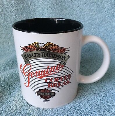 "1993 Harley Davidson 12 Ounce ""coffee Break""  Mug Officially Licensed"