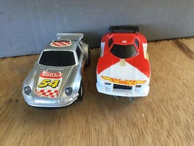 Tonka Speed Loop Electric Race track Parts -2 x cars for parts  -