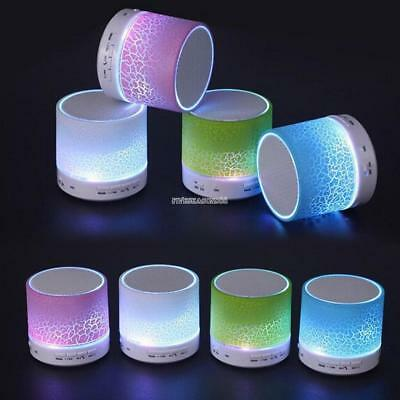 LED Portable Mini Wireless Bluetooth Speakers with USB and TF Port ZZ 04