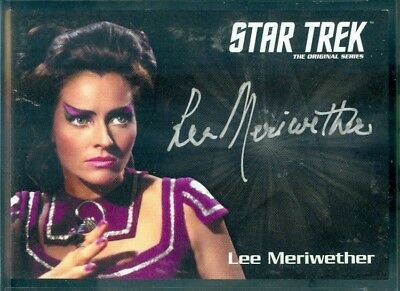 STOS Captain's Collection Lee Meriwether as Losira  Silver Sig Auto Card