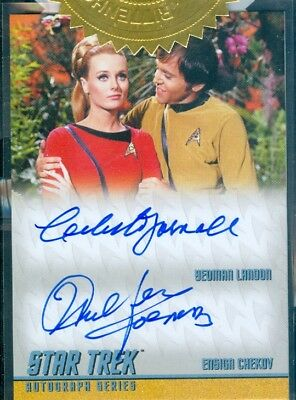 STOS Captain's Collection Yarnall / Koenig 6 Case Incentive Autograph Card