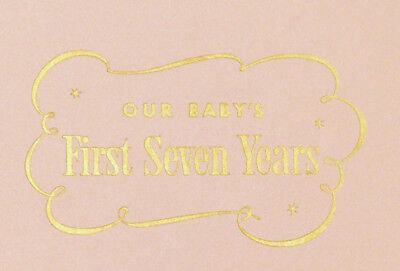 """OUR BABY'S FIRST SEVEN YEARS RECORD BOOK"" boxed, Chicago Lying-In Hospital 1963"