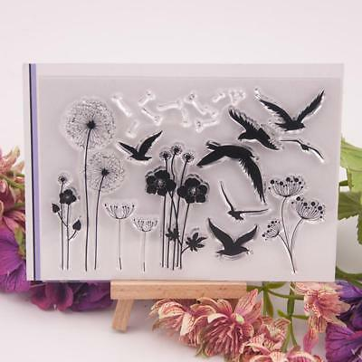 DIY Flowers Birds Silicone Stamps Scrapbooking/Photo Album Cards Paper Crafts