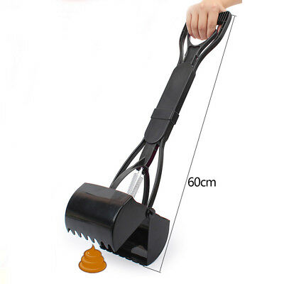 1x Portable Dog Pet Pooper Scooper Jaw Poop Scoop Clean Pick Up Tool Long Handle