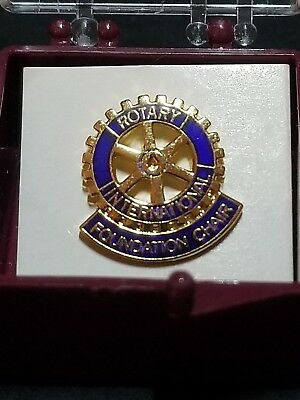 "RARE Rotary International ""Foundation Chair"" Lapel Hat Pin - NEW in Box"