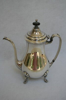 Vtg Crescent NY Silverplate Footed Coffee Pot