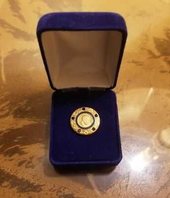 5 Sapphire - Paul Harris Fellow Rotary Tie Tac Lapel Pin Gold Tone - Blue Enamel