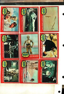 1977 Topps Star Wars Cards Series 2 Red...pack Fresh Near Mint Condition