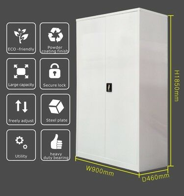 1850mmH super Strong Metal Storage Cupboard Garage Stationery cabinet Multicolor