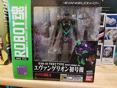The Robot Spirits EVA-01 Test Type Night Combat Ver. SDCC Exclusive Bandai Used