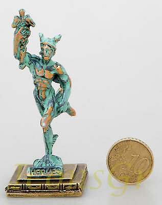 Ancient Greek Olympian God Miniature Sculpture Statue Hermes  + registered mail