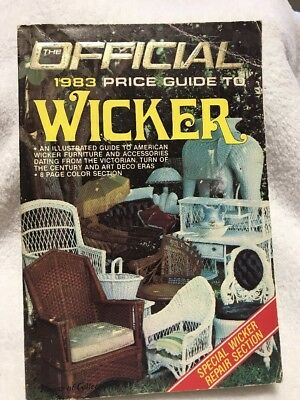 The Offial 1983 Price Guide To Wicker Great Condition Free Shipping
