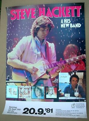 STEVE HACKETT Genesis Cured German Tour Promo Poster VG++ 1981 Classic ORIGINAL!