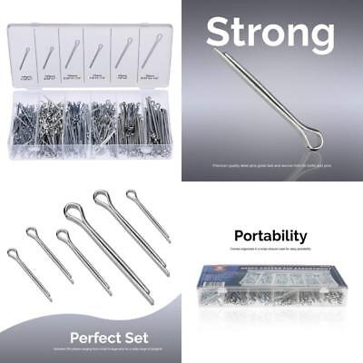 Cotter Pin Assortment Kit Fastener Clip Key Large Industrial Storage Case 555 Pc