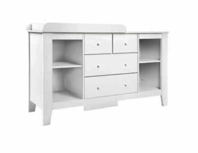 New Change Table With Drawers White Quality Smooth Metal Runners Contemporary