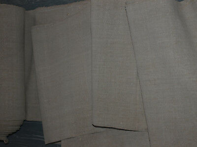 8yards Vintage Homespun Linen Organic Natural Antique Flax Handwoven Old Fabric