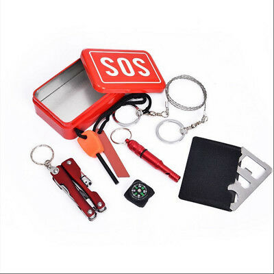 SOS Emergency Survival Equipment Kit Outdoor Sports Tactical Hiking Camping Set