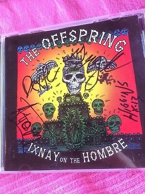 The Offspring - Ixnay On The Hombre autograph ( Greg K, Dexer, Atom & Higgins )