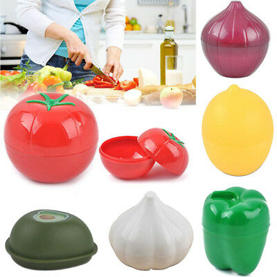 AU_ VEGETABLE CONTAINERS ONION LEMON PEPPER KEEPER FOOD SAVERS KITCHEN TOOL Heal