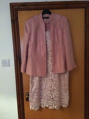 Jacques Vert Lace Dress and Jacket in Pink size 18, beautiful suit