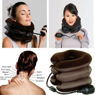 Cervical Traction Device Inflatable Shoulder-Neck Pain Relief Brace Collar *8