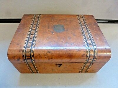 Beautiful Wooden Box With Marquetry Inlay Detail