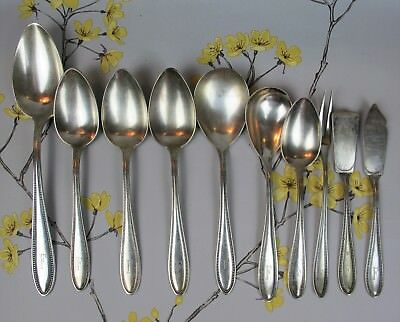 """Vintage EPNS silver plated mixed Welner SERVING CUTLERY: spoons etc. Initial """"F"""""""