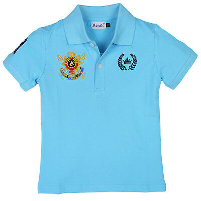 BRAND NEW Premium Blue Polo t-Shirt for Boys kids children teen men