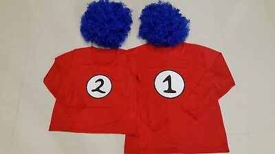 Thing 1 or Thing 2 - Wig & Long Sleeve Top