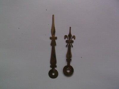 Pair Of Brass Hands From An Old Battery Operated Wall Clock