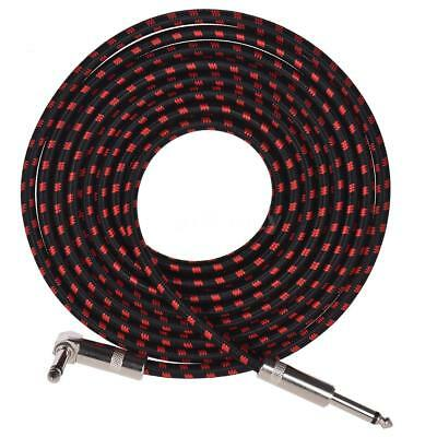10 Feet Electric Guitar Bass Musical Instrument Cable Cord with 6.35mm TRS J5C4