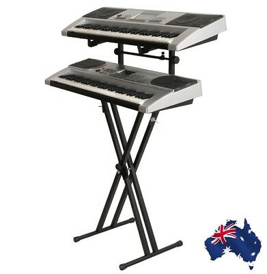 New Heavy Duty Double Tier Keyboard Stand (Double Braced)