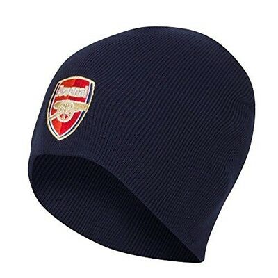 Arsenal Core Beanie Knitted Hat - Navy - Football Official Gift Crest Fc Nv Club