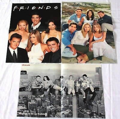 3 FRIENDS - Poster !!! rare Fan collection Sammlung A3 Jennifer Aniston C.Cox ua