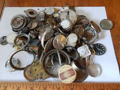Large Lot of Antique Watch Parts, Wristwatches, Pocket Watches, Nearly 2lbs!