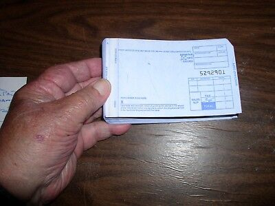 100 Short 2 Part  Credit Card Sales Form to use with Credit Card imprinter.