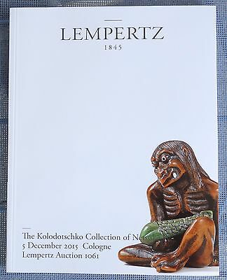 """The KOLODOTSCHKO Collection of Netsuke"" Lempertz Kat.1061 5.12.2015 + ERGEBNIS"