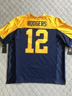 cfbdd953981 Nike Mens Green Bay Packers Aaron Rodgers Elite Throwback Jersey Sz 52  Authentic